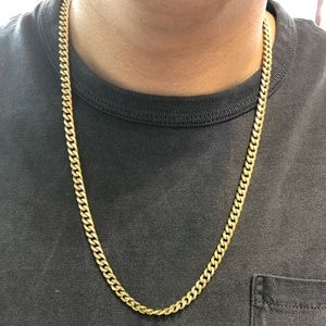 """Other - 14K Yellow Gold Semi-Solid 6mm Cuban Link 24"""" In."""